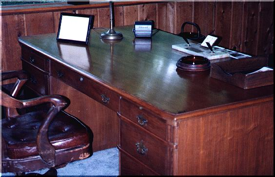 Bill's desk at Wits End